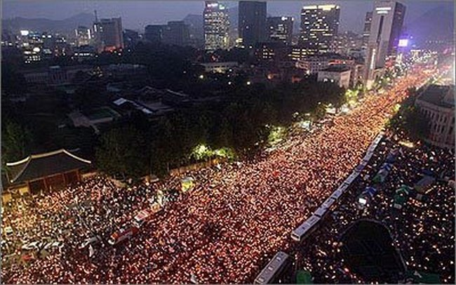Image result for LIVE: Rally against President Park in South Korea